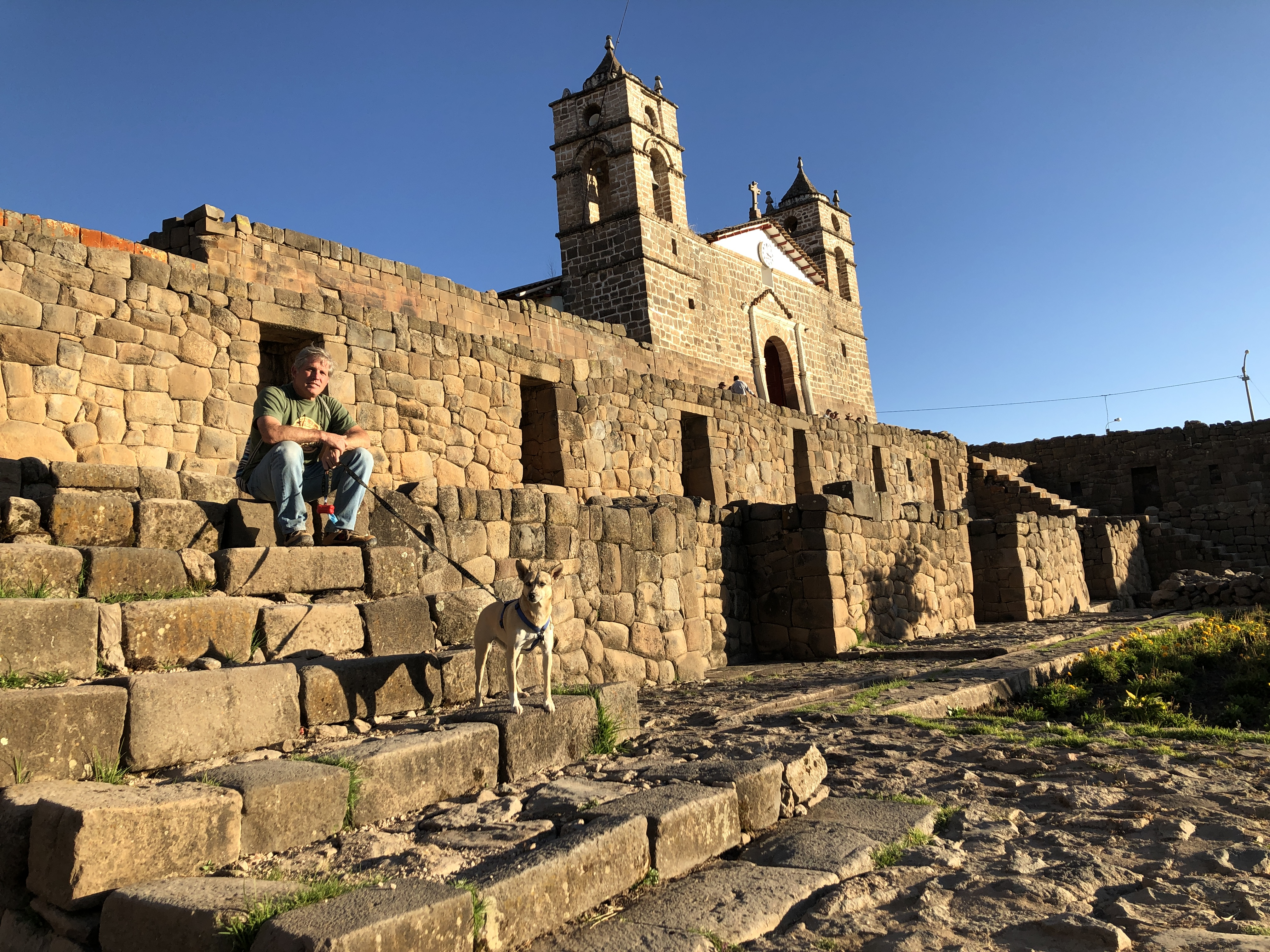 vilcashuaman church on inca temple.JPG