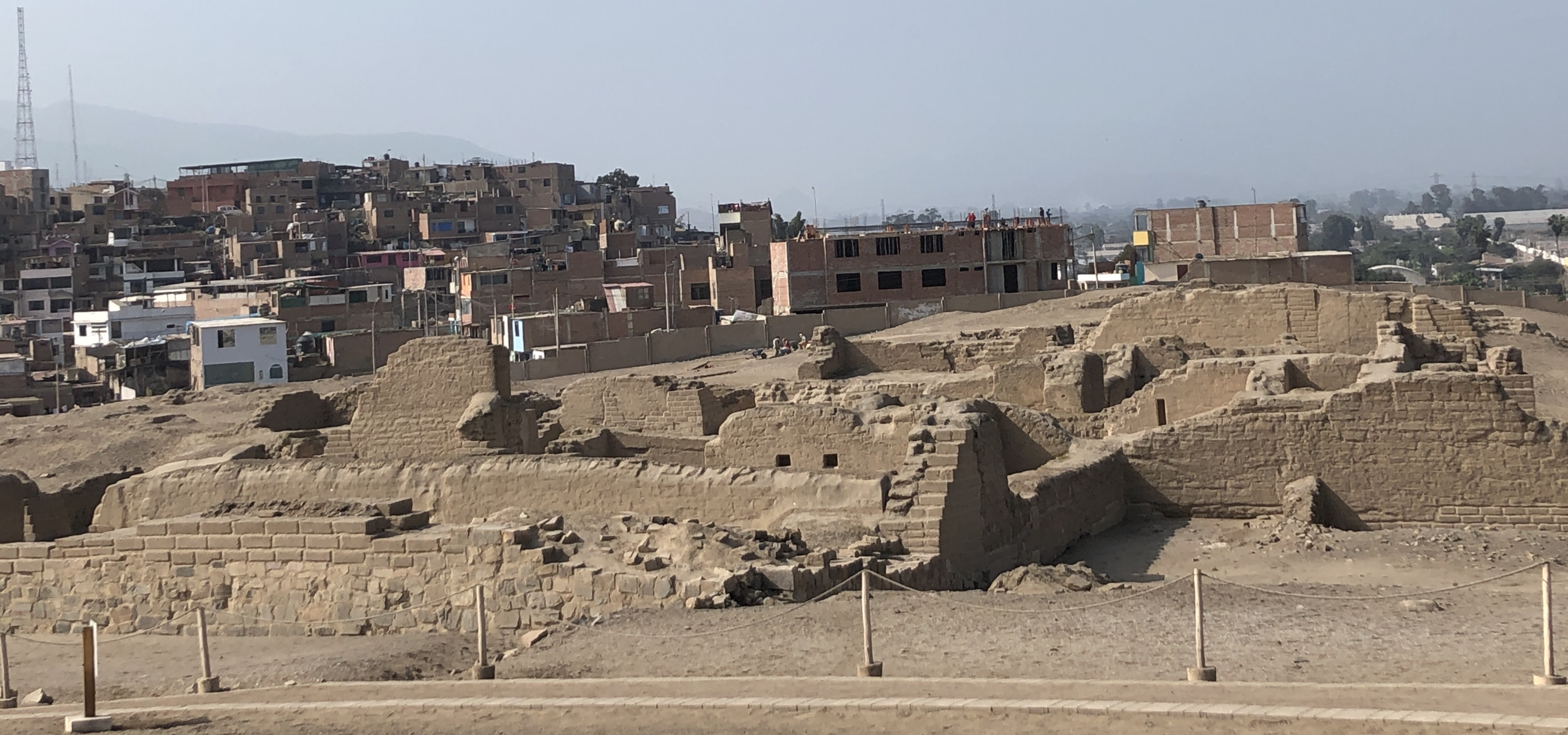 pachacamac ruins and the city nearby