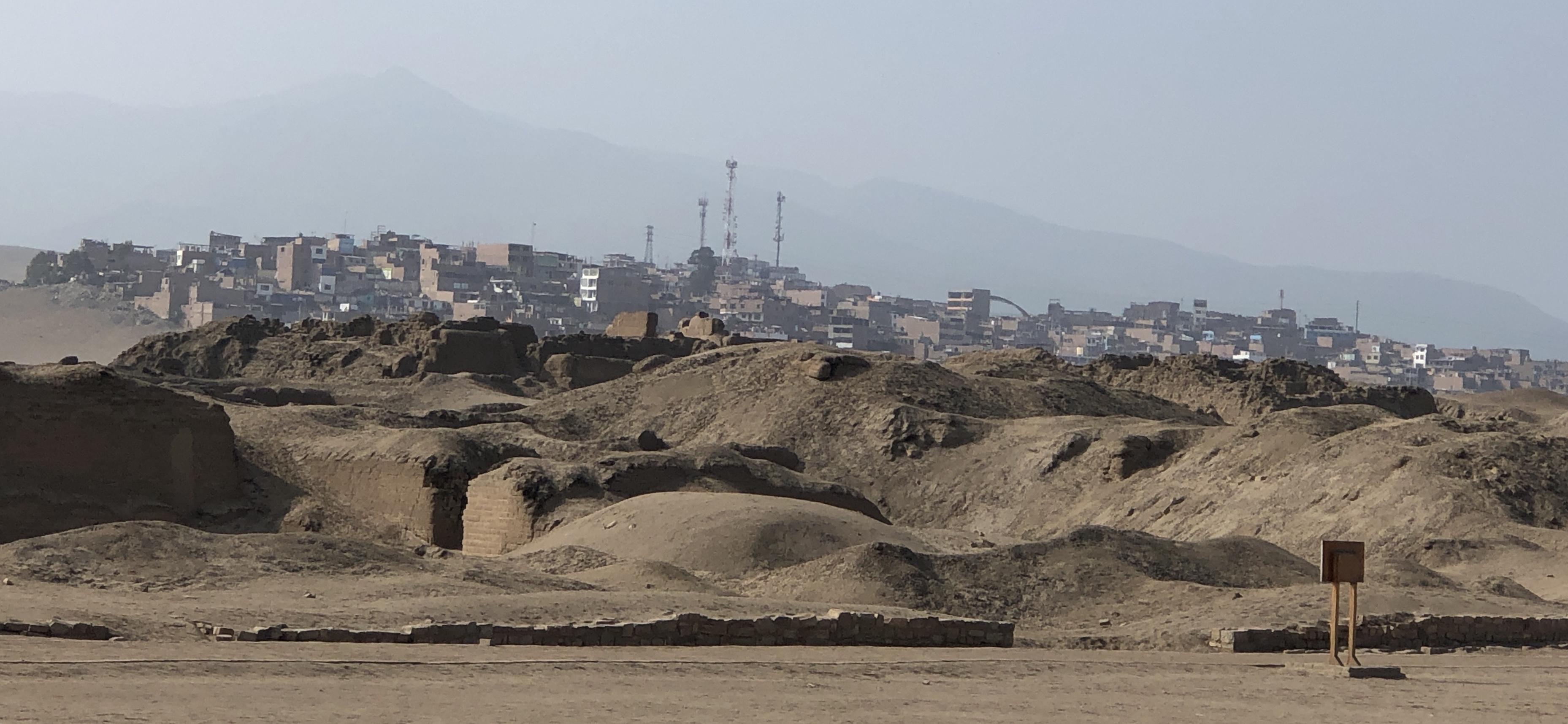 pachacamac ruins close to the city