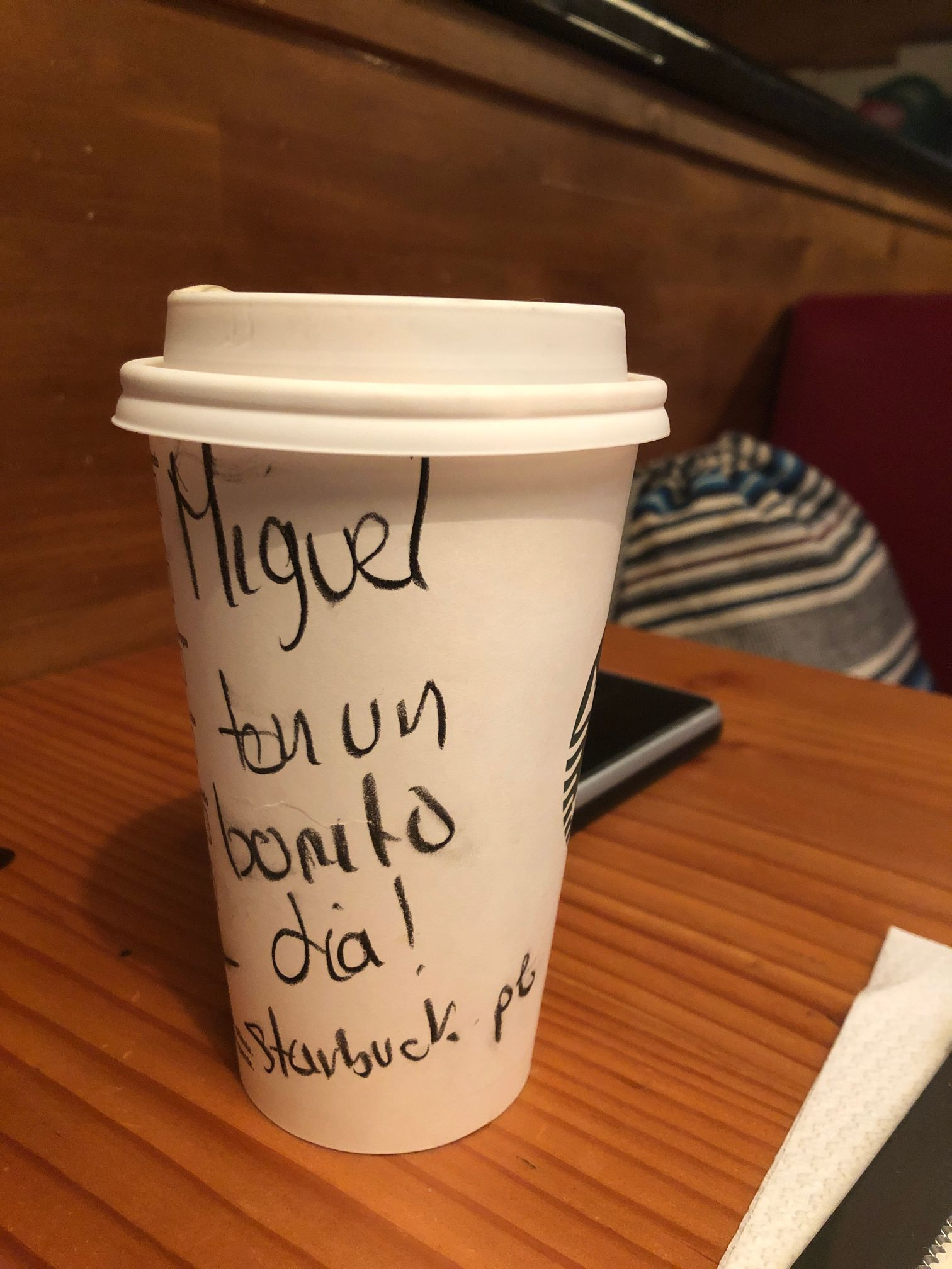 starbucks greeting