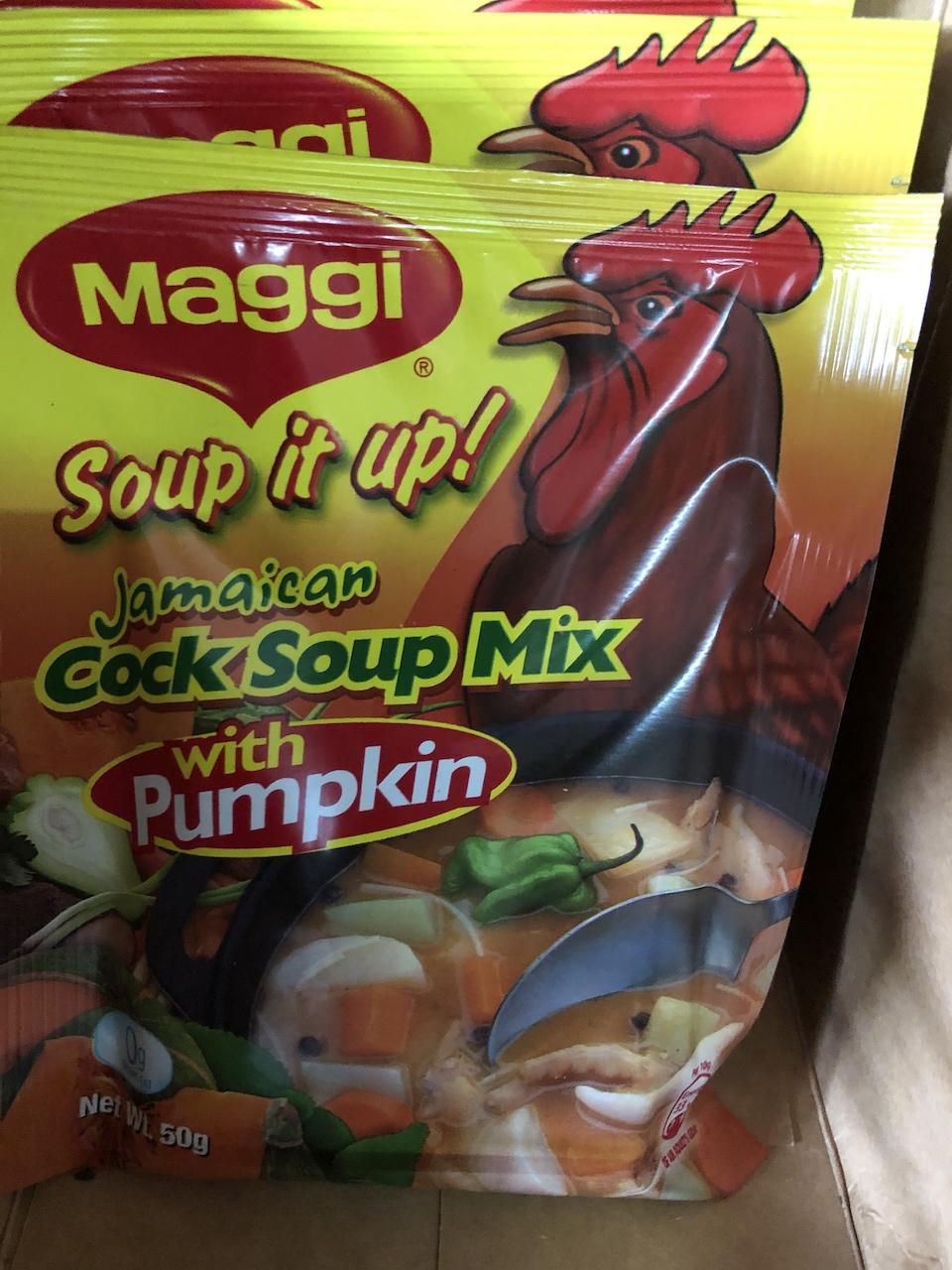 cock soup.