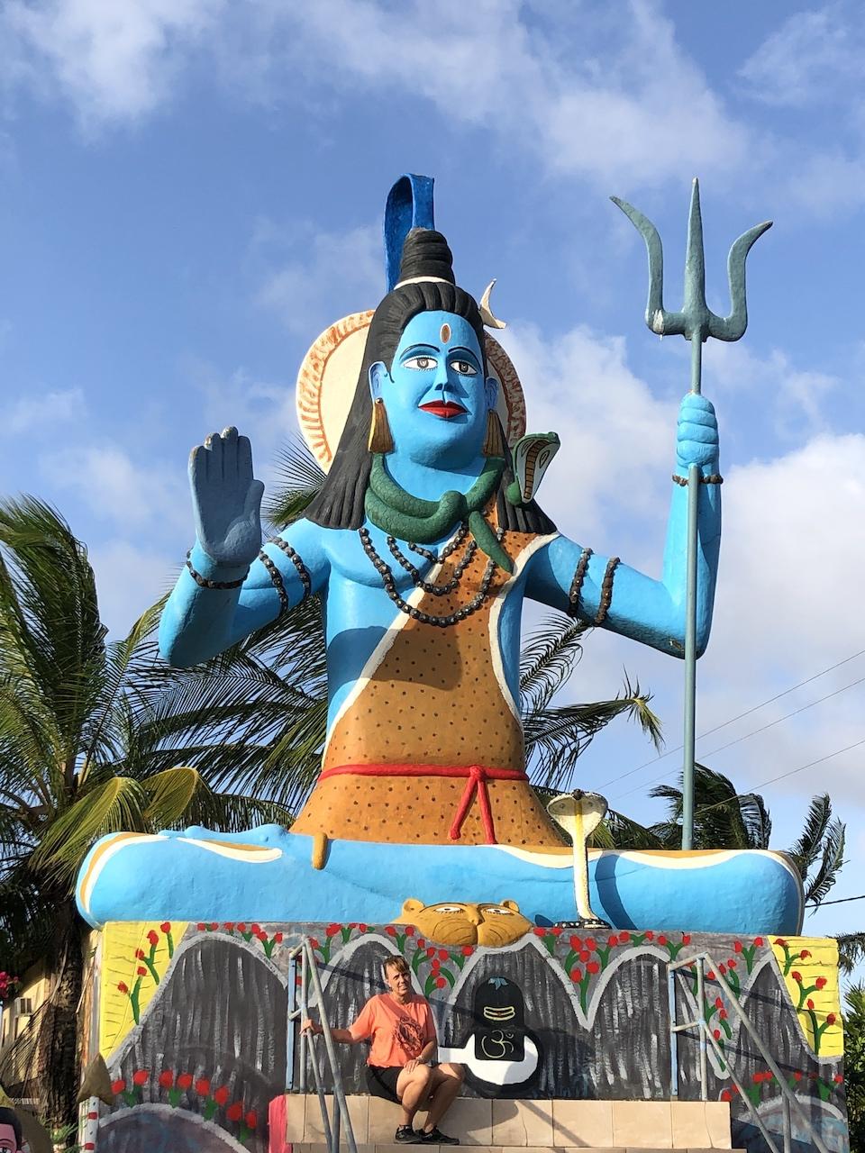 hindu statue with geneva