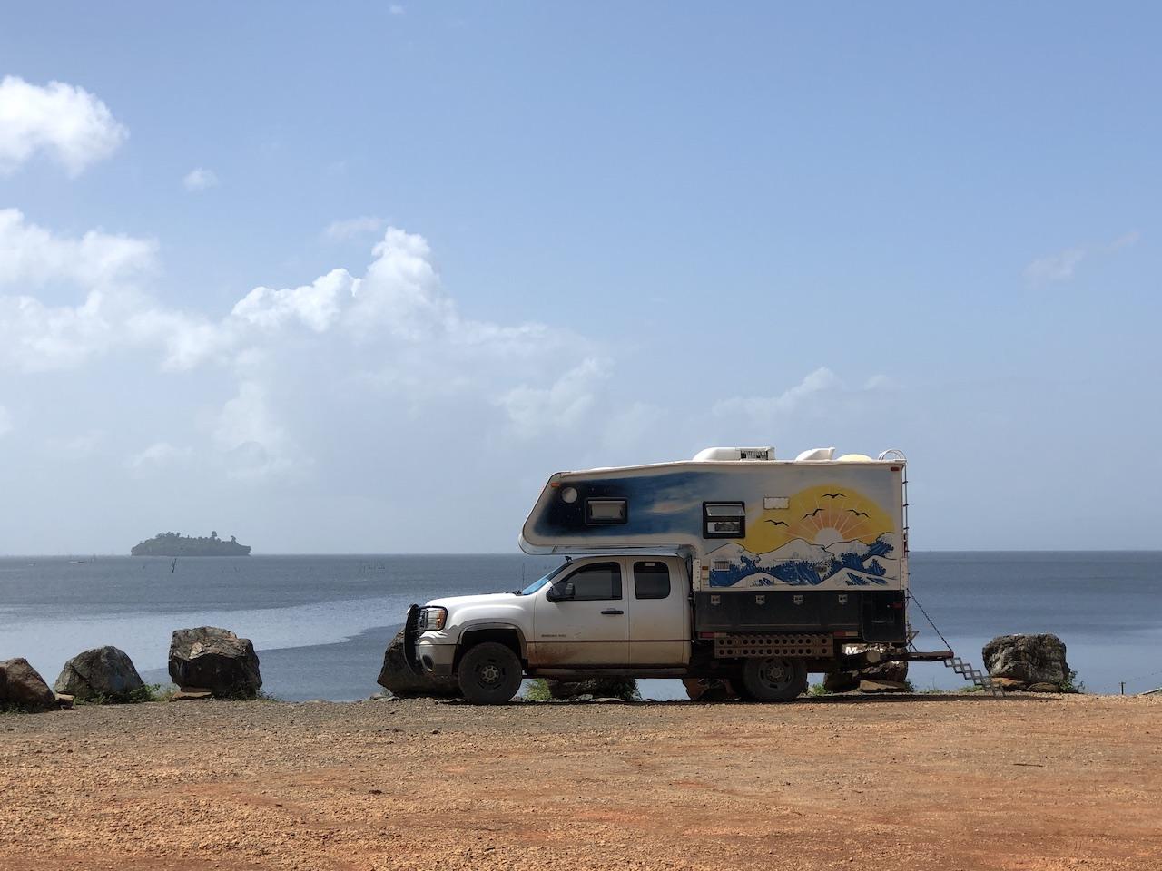 lakeside campsite