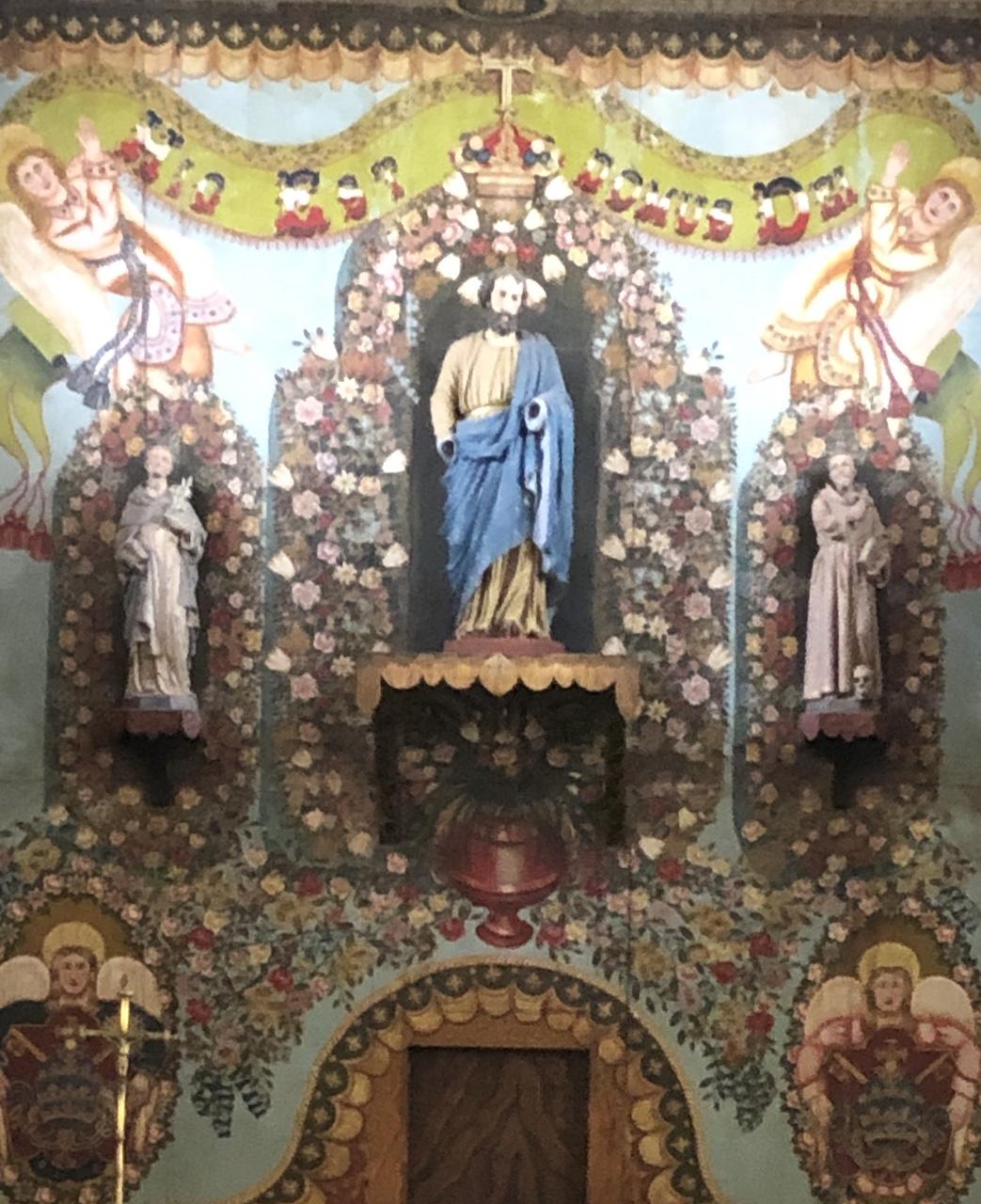 church painted altar